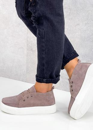 Туфлі крипери замшеві