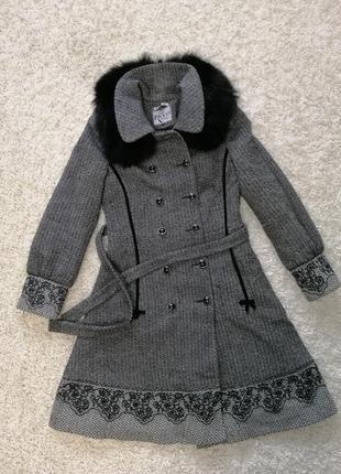 Бомба! стильное женское пальто ricco xs в прекрасном состоянии