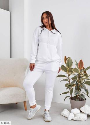 Белый костюм , костюм 54 размера , спортивный костюм
