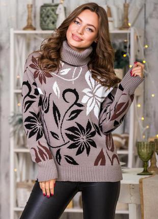 В'язаний светр в асортименті тёплый вязаный свитер водолазка гольф в ассортименте