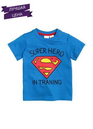 Новая футболка супермен  h&m superman для мальчика 1,5-2 года