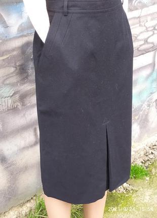 Классическая юбка карандаш офисная 100%шерсть