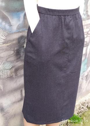 Классическая юбка,мили,карандаш,офисная,80%шерсть