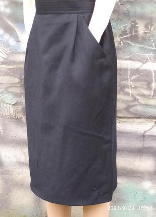 Классическая юбка мили,карандаш,офисная,100%шерсть