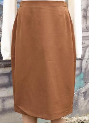 Офисная юбка карандаш 65%шерсть,миди