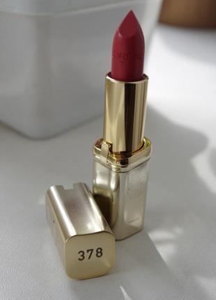 Помада l'oreal paris color rich lipcolor в оттенке 378 velvet rose