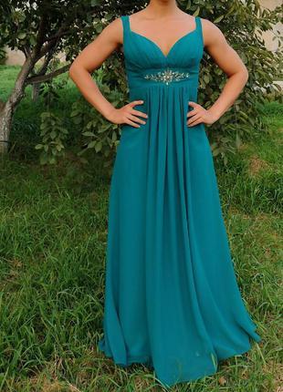 Вечернее платье бренда jora collection usa длинное в пол