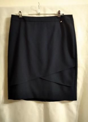 Суперская синяя юбка миди  на подкладке от gerry weber