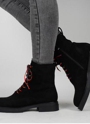 Замшевые / женские ботинки / новинка / 36-40 размер.