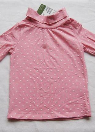 Нежно-розовый гольф в сердечко из орган. хлопка от h&m на 18-24 мес. новый!