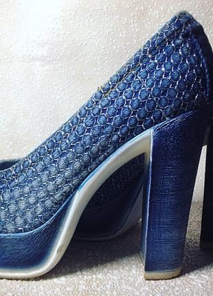 Туфли джинсовые