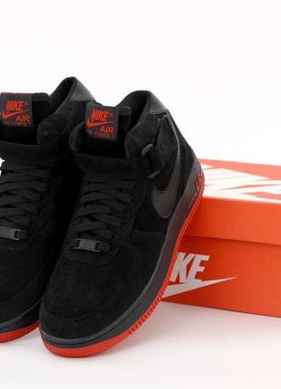 Мужские кроссовки nike air force 1 black
