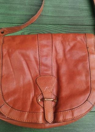 Классная кожаная сумка cross-body