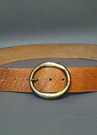 Роскошный кожаный ремень 100% натуральная кожа италия amapola