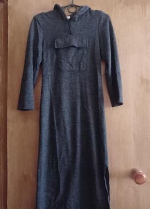 Платье трикотаж длинное