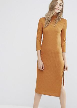 Длинное платье в рубчик vila, размер хс