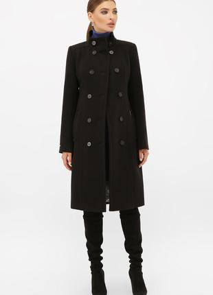 Кашемировое пальто в гусарском стиле