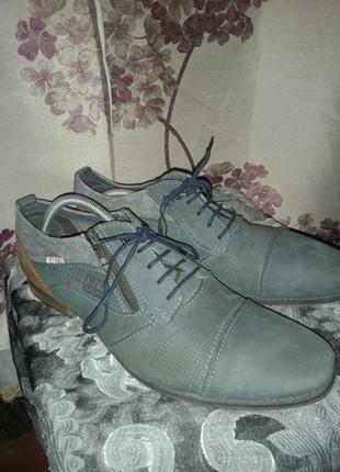 Ботинки bugatti шкіряні