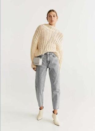 Шерстяной тёплый свитер крупной вязки фирмы mango