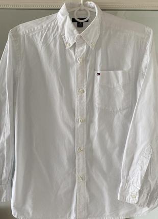 Белоснежная рубашка tommy hilfiger