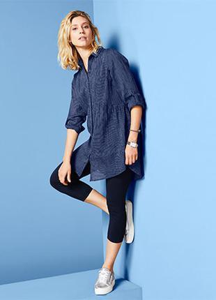 Длинная блуза рубашка размер 54-56 наш tchibo тсм