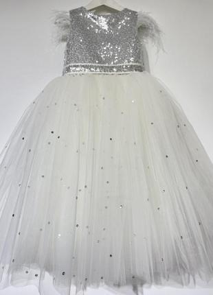 Пышное детское платье для девочки с бантом на праздник