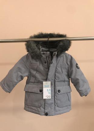Осенняя курточка на мальчика primark 6-9 месяцев