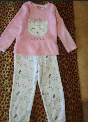 Теплая пижама на девочку primark