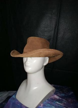 Австралийская ковбойская шляпа аукбра из замши