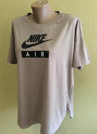 Женская длинная футболка nike air р xl коттон