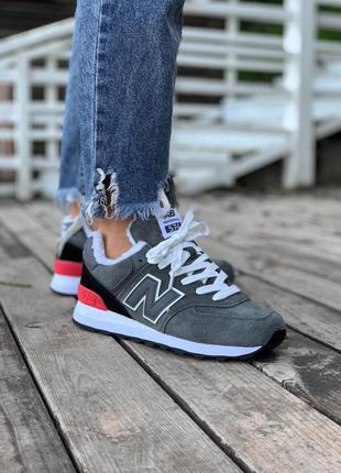 ❄️ зимние женские кроссовки на меху new balance 574