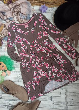 Мягкое трикотажное платье миди в цветочек joules