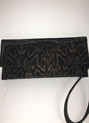 Стильный кошелек / клатч из натуральной кожи.