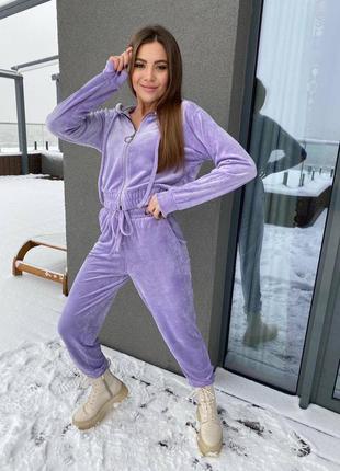 Фиолетовый плюшевый костюм