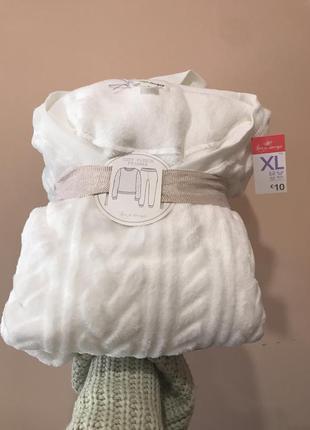 Шикарная белая мягкая пижама primark размер xl большемерит