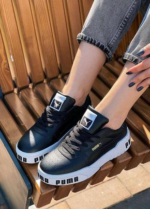 Осенние кеды cali 🌿 женские кожа кроссовки на платформе