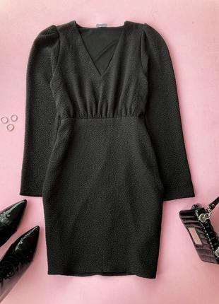 Чорна сукня довгий рукав м vero moda, платье миди чёрное длинный рукав