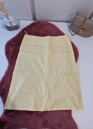 Желтая юбка от new look 38р. м спідниця міді