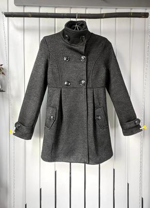 Стильне жіноче сіре пальто трендовые женское пальто тренч