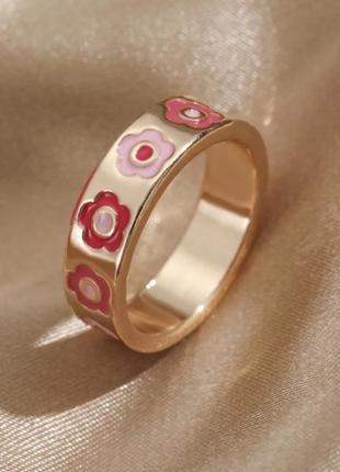 Новинка кольцо цветочки стильное колечко