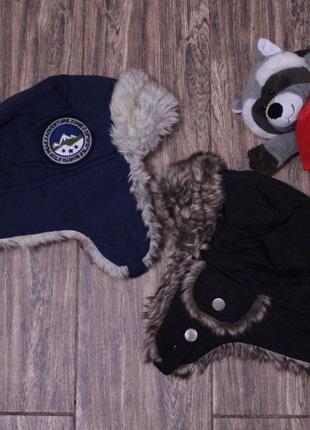 Зимняя шапка ушанка h&m 2-4 года