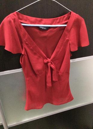 Блуза красная  dorothy perkins