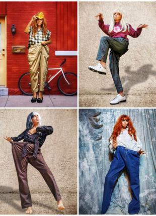 Брюки штаны стрейч высокая посадка вельветовые джинсы батал большого размера классические базовые