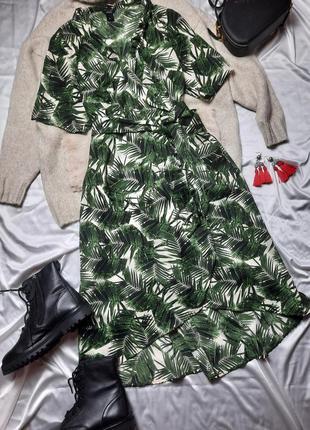 Платье в листья на запах