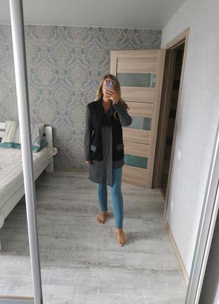 Шикарное дизайнерское шерстяное пальто