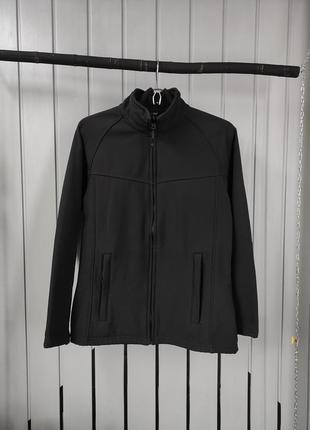 Женская черная водонепроницаемая куртка софтшелл regatta professional