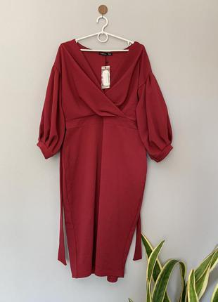 Платье миди офисное и для торжества