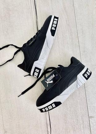 Кроссовки puma cali black