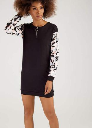 Select. товар привезен из англии. платье с начесом с камуфляжным принтом.