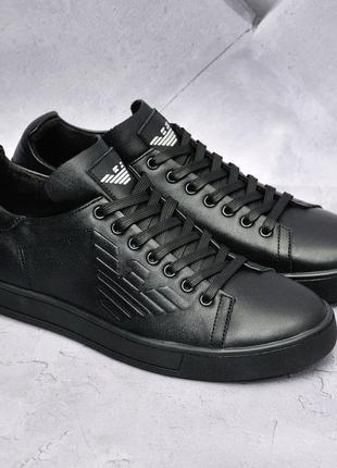 Кожаные туфли /кеды.
